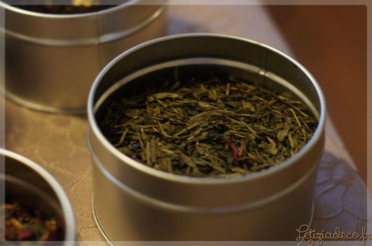 Thé vert pêche fruits de la passion Parenthèse café en pot argenté